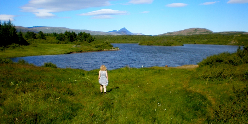 wild icelandic girl by the lake cc